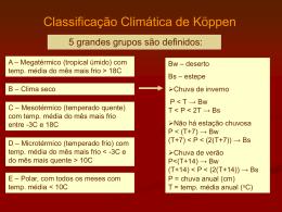U18 - Classificação Climática de Köppen