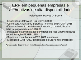 ERP em pequenas empresas