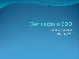 Diferenciação numérica e EDOs