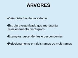 ÁRVORES BINÁRIAS (cont.)