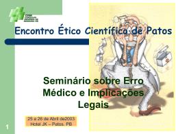 Erro Médico - Conselho Federal de Medicina