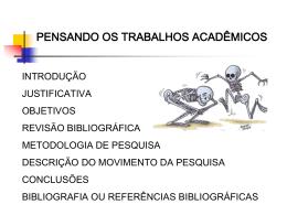 + Trabalhos acadêmicos