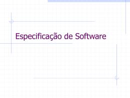 Especificação de Software - Centro de Informática da UFPE