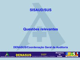 Apresentação - SISAUD/SUS - Amélia Andrade - SNA