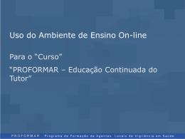 Uso do Ambiente de Ensino On-line