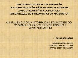 Apresentação - especialização em fundamentos de matemática