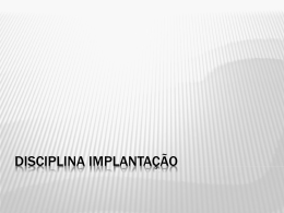ESOF2 201001 Disciplina Implantacao Turma A