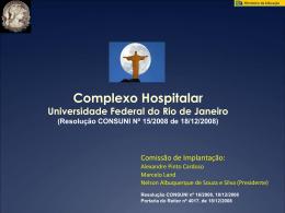 apresentacao_Forum_Diretores_ago2009 - Complexo Hospitalar