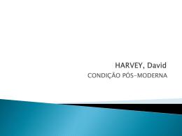 HARVEY, David - Processos de trabalho