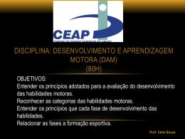 FASE DAS HABILIDADES MOTORAS ESPECIALIZADAS
