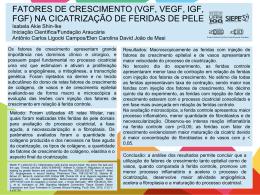 FATORES DE CRESCIMENTO (VGF, VEGF, IGF, FGF) NA
