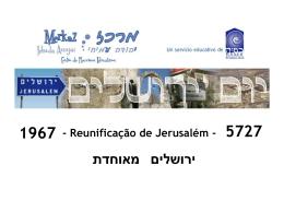 Reunificação de Jerusalém