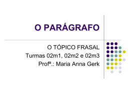 2014 O PARÁGRAFO