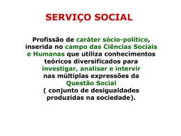 Serviço Social e Projeto Ético-Político