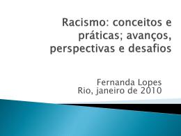 Racismo: conceitos e práticas - Instituto de Estudos em Saúde