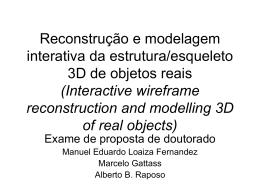 Recuperação de medidas e modelagem 3D em tempo real - PUC-Rio