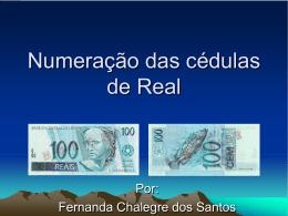 Numeração das cédulas de Real