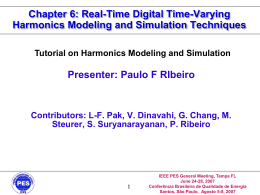 Real-Time Digital Time-Varying Harmonics Modeling and