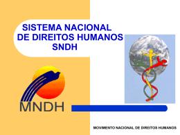 Sistema Nacional de Proteção dos Direitos Humanos