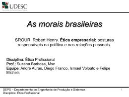 As morais brasileiras