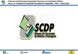 scdp (sistema de concessão de diárias e passagens)