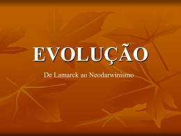 Evolução - 9º ANO - Prof. PAULO NEY