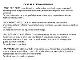 classes de movimentos