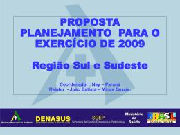 PROPOSTA PLANEJAMENTO 2009