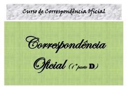 Correspondência Oficial 1D