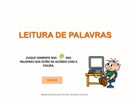 LEITURA DE PALAVRAS