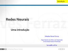 Apresentação PowerPoint sobre Introdução às Redes Neurais