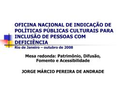 OFICINA NACIONAL DE INDICAÇÃO DE POLÍTICAS PÚBLICAS