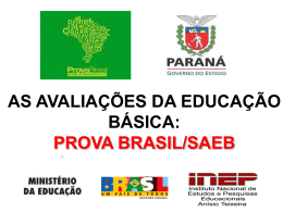 Prova Brasil/Saeb - escola estadual moreira salles