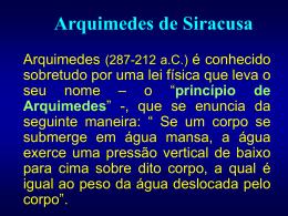 Arquimedes de Siracusa - Física