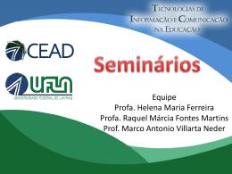 Seminários - Projeto TICS
