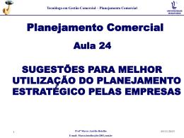 Melhor utilização do Planejamento Estratatégico pelas Empresas