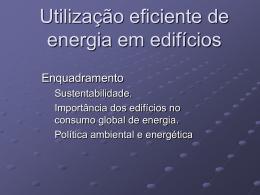Começando pelas cidades... - Laboratório de Gestão de Energia