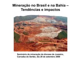 Mineração no Brasil e na Bahia