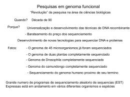 Genoma Funcional I: Análise do Transcriptoma