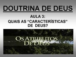 teísmo e afins - Igreja Batista em Sousas