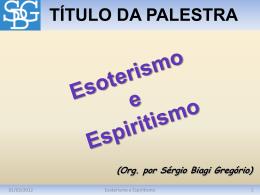 Esoterismo e Espiritismo