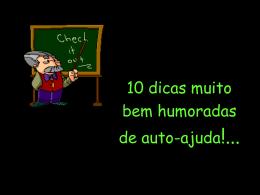 10 DICAS MUITO BEM HUMORADAS