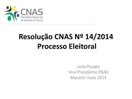 Apresentação Resolução Cnas 14 Processo Eleitoral Sociedade Civil