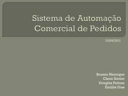Sistema de Automação Comercial de Pedidos