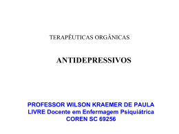 Antidepressivos - Wilson Kraemer de Paula