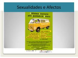 Sessão-se sexualidade e afectos