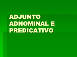 adnomial-predicativo