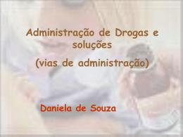 Vias de administração de medicação
