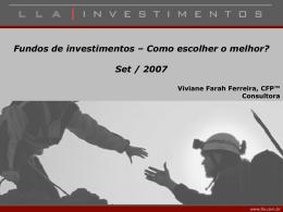Fundos de Investimentos: Como escolher o melhor?