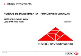 Fundos de Investimento – Principais mudanças - 2005 - Corecon-SP